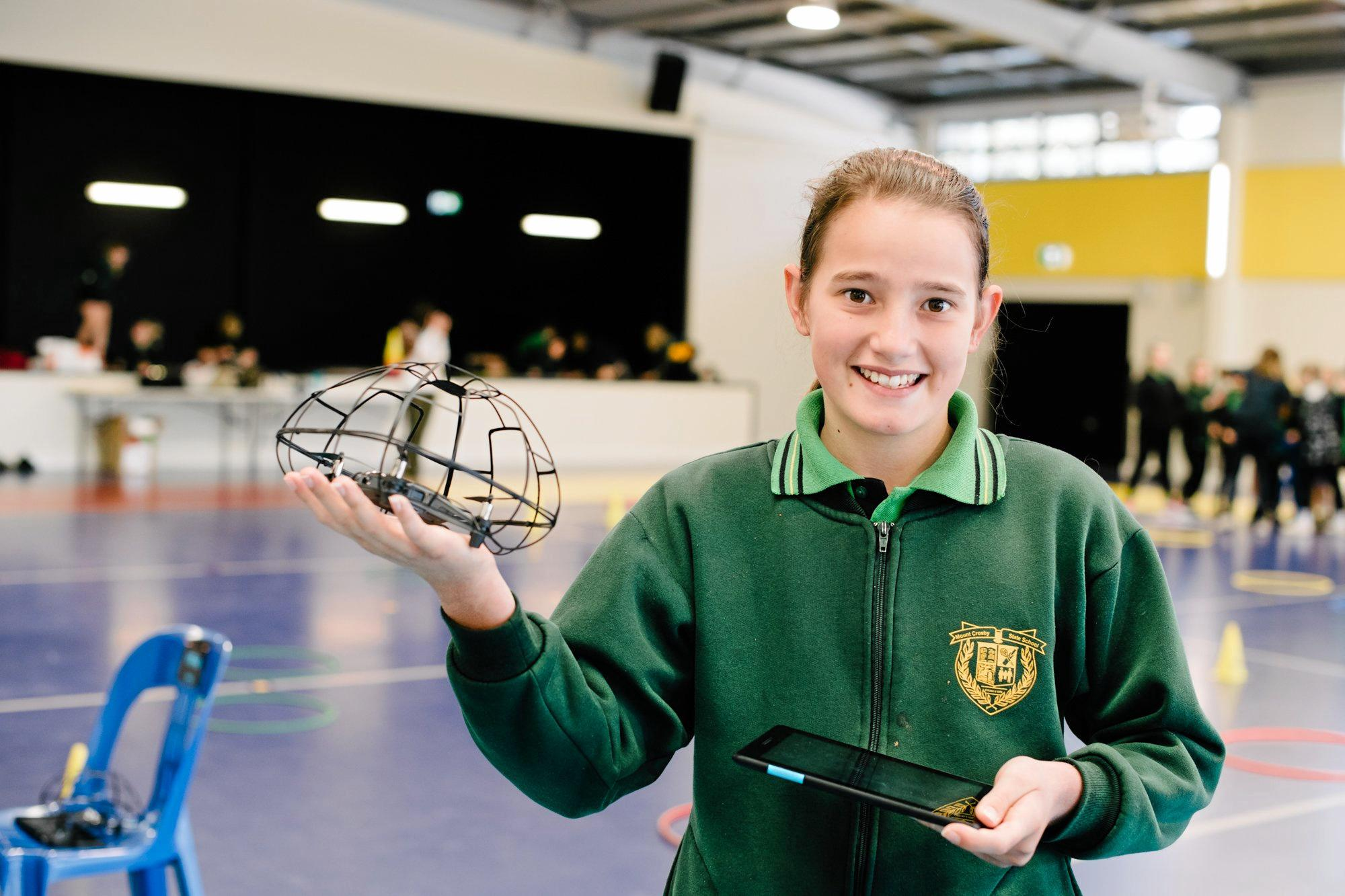 Grace Grennell had lots of fun learning about drones.