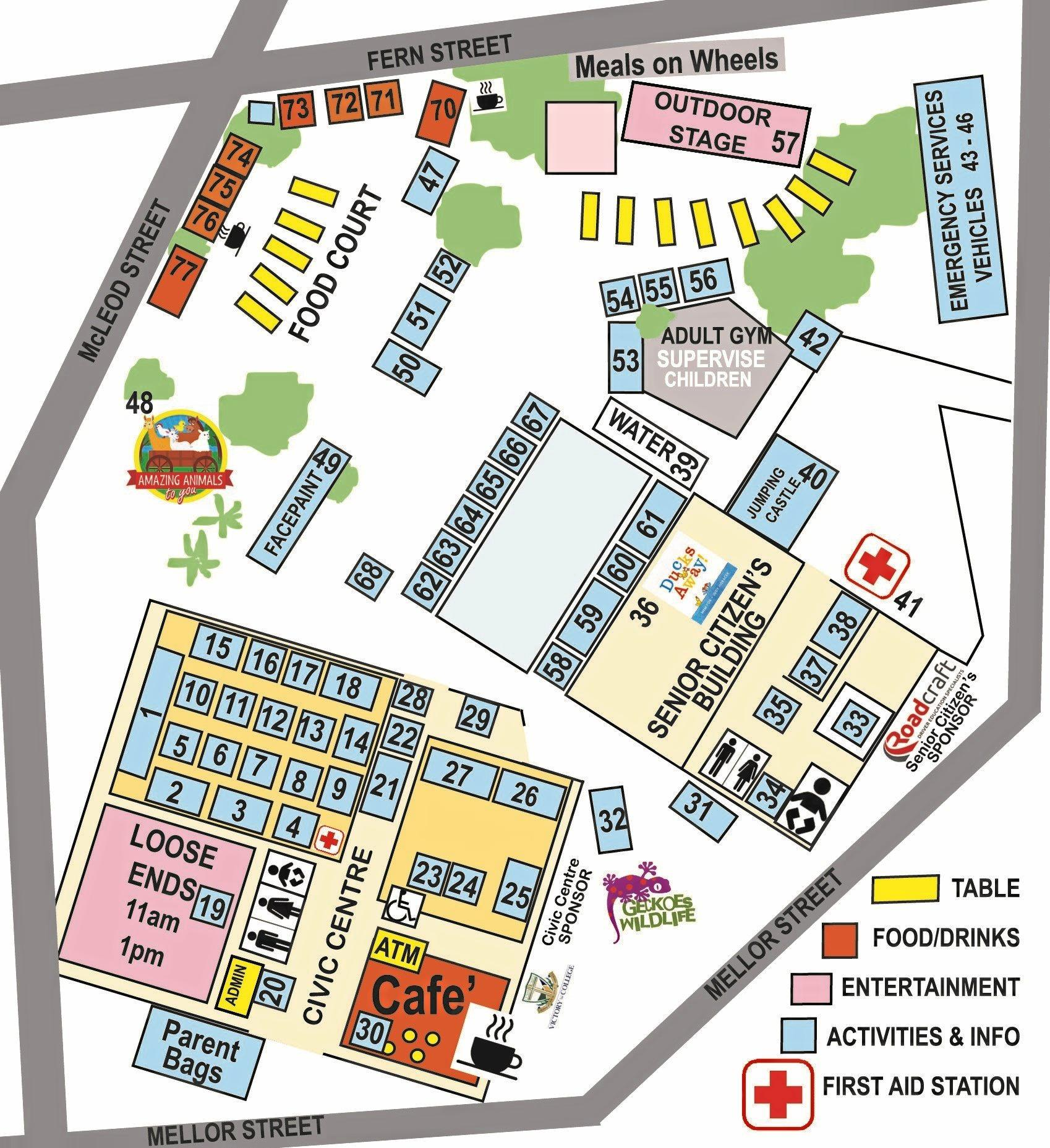 Little Kids Day Out 2019 Map