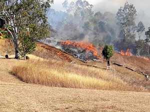 Gympie region on high fire alert as triple dry threat looms