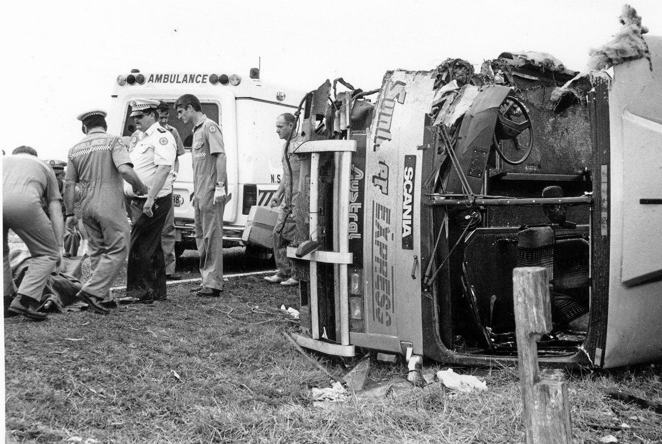 The scene that many from the Clarence Valley will never forget. The Cowper Bus crash which occurred in the early hours of October 20, 1989.