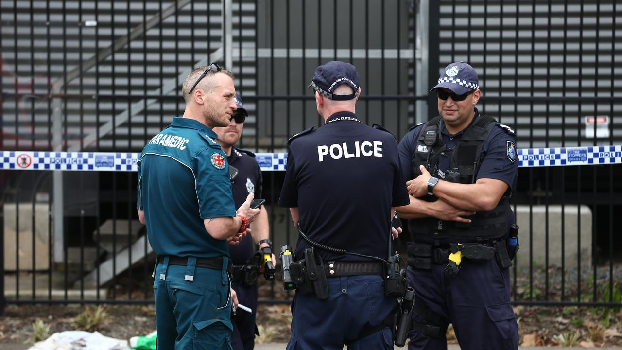Emergency services attend the scene of the alleged attack. PICTURE: BRENDAN RADKE