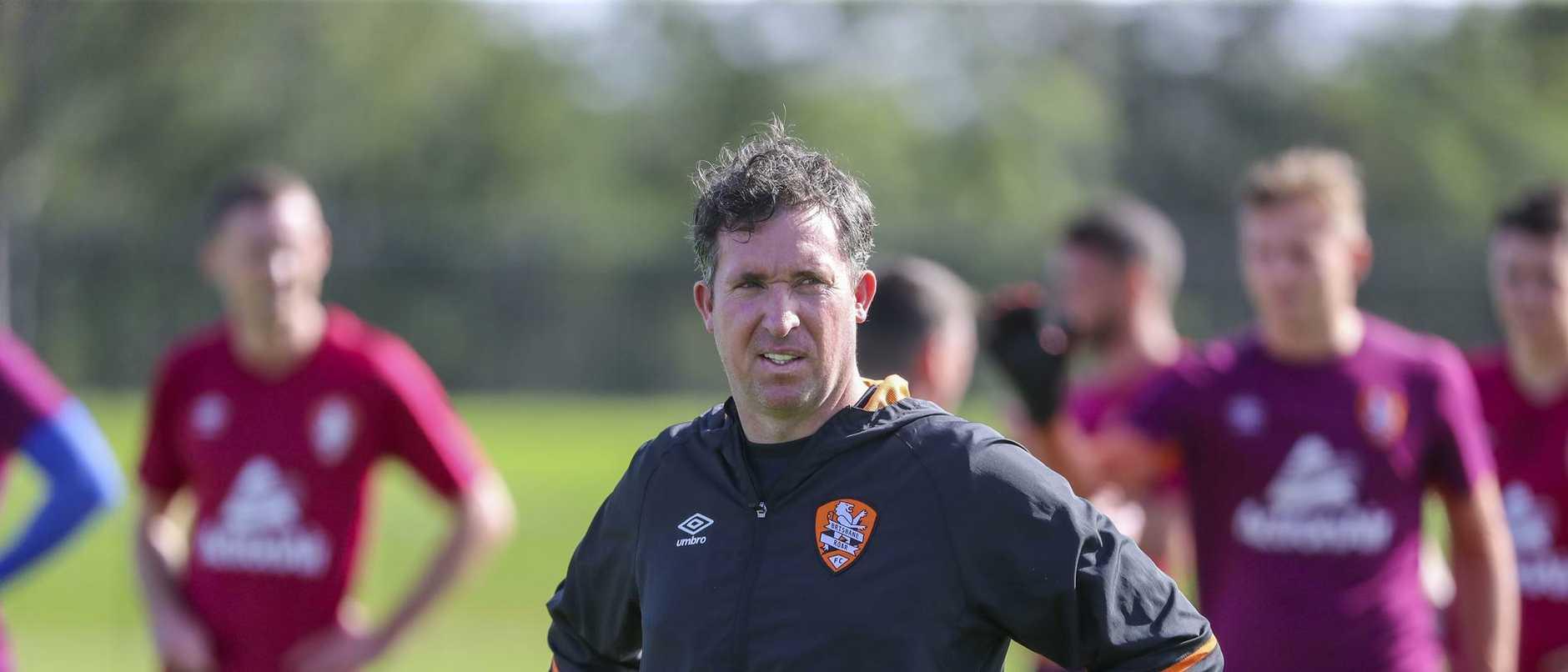 Brisbane Roar coach Robbie Fowler. Picture: Glenn Hunt/AAP