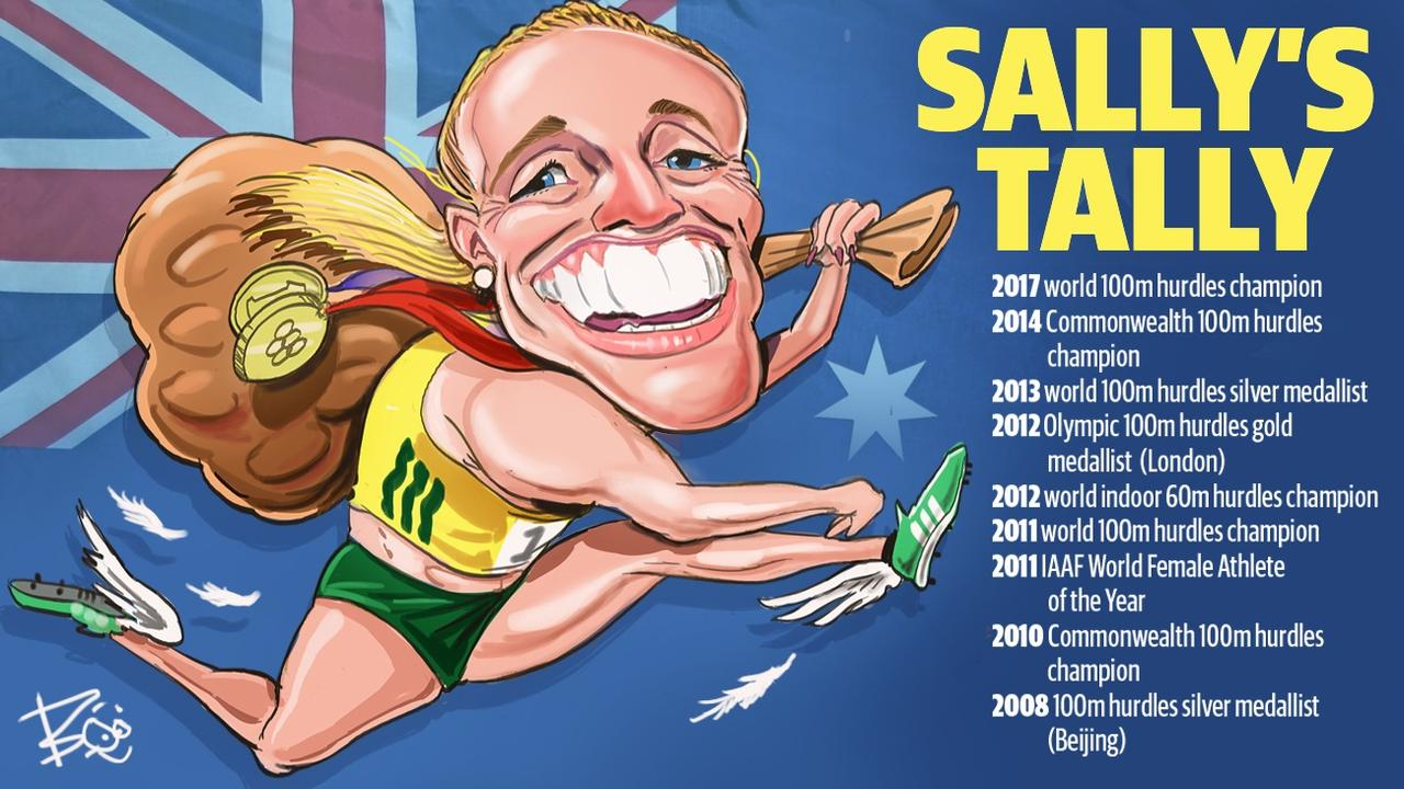 Sally Pearson's legendary career. Picture: Boo Bailey