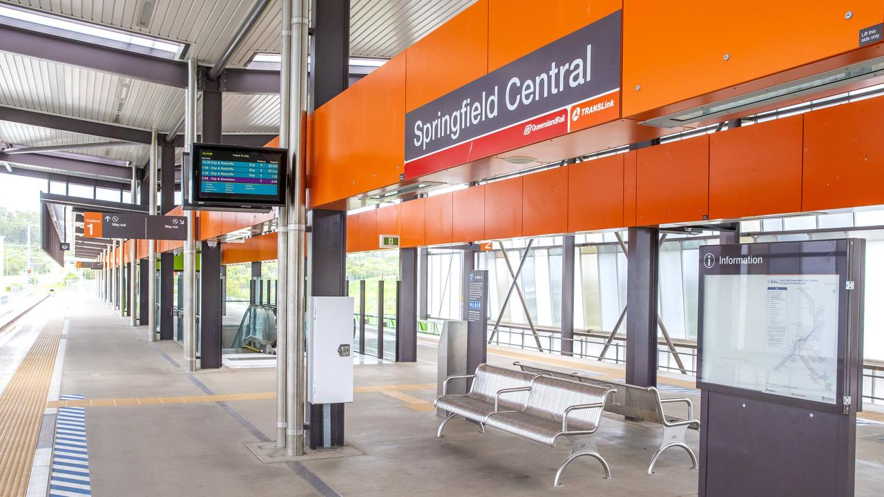 Springfield trains are running on time after Queensland Rail's new schedule kicked in last week. Picture: AAP/Richard Walker