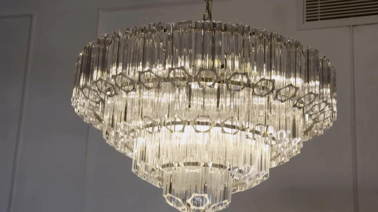 Especially their chandelier, which Shaynna described as 'hot' and 'sexy'. Picture: The Block
