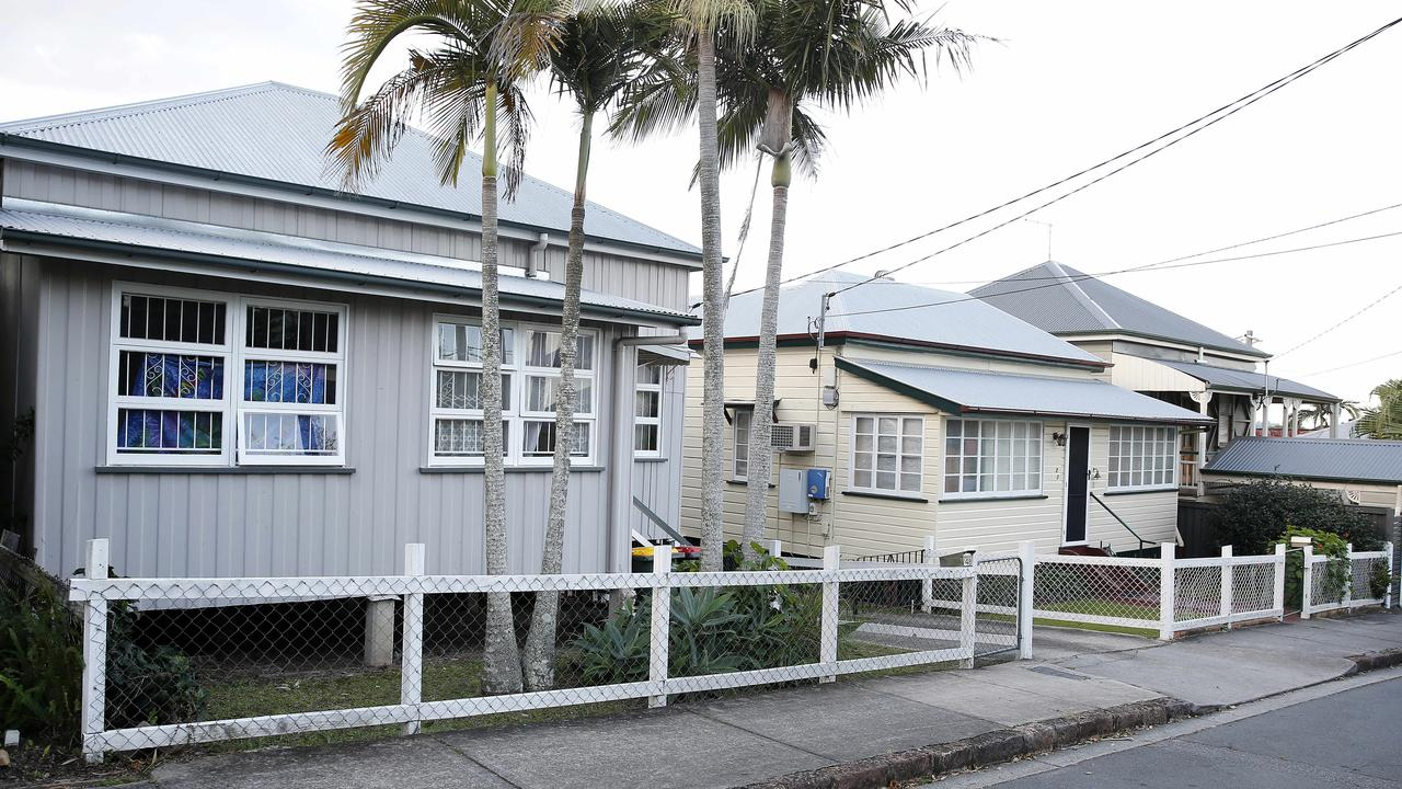The house at 48 Abingdon St, Woolloongabba (left), at the centre of the controversy.