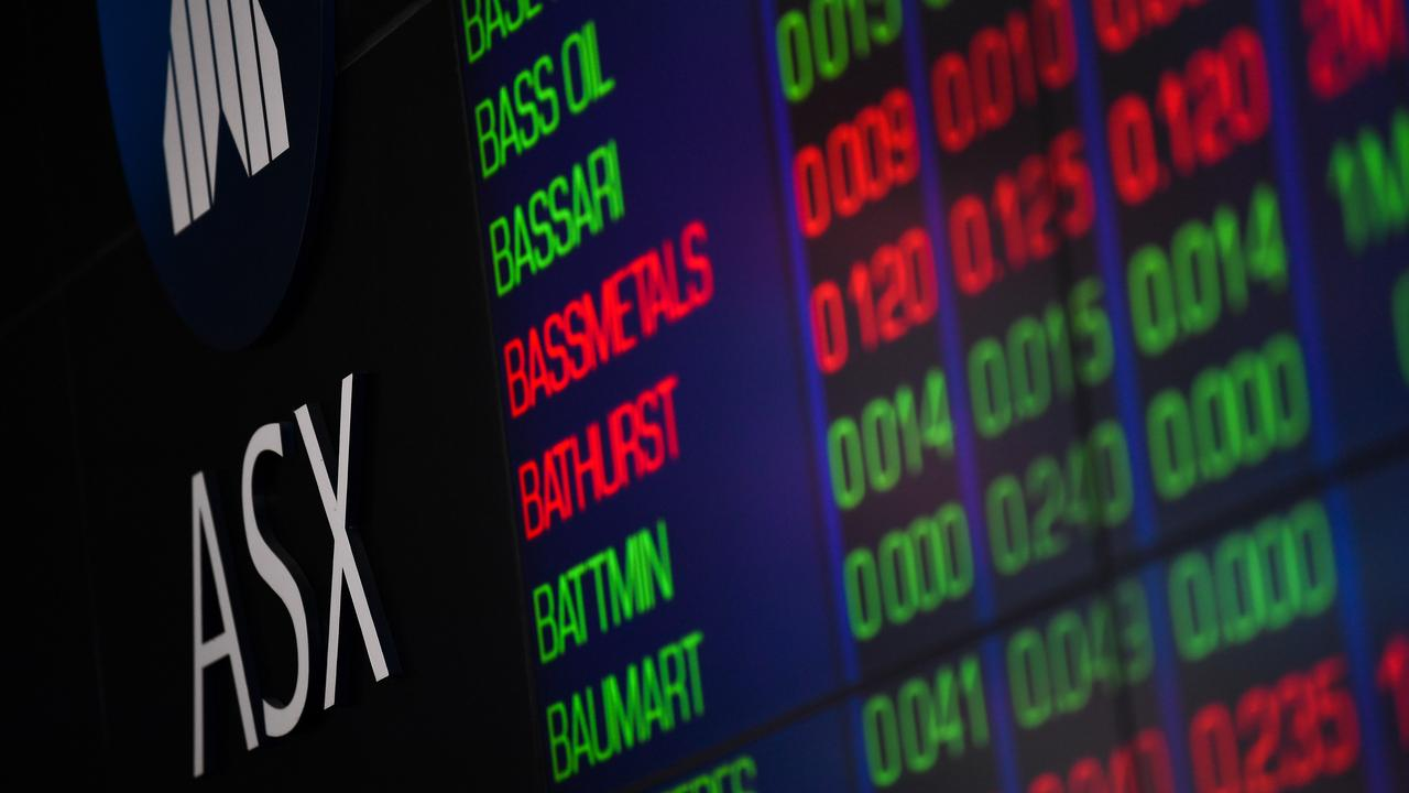 The indicator board at the Australian Securities Exchange (ASX) on July 30. Picture: AAP Image/Paul Braven