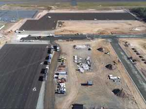 Construction works on the Hervey Bay Aviation Precinct