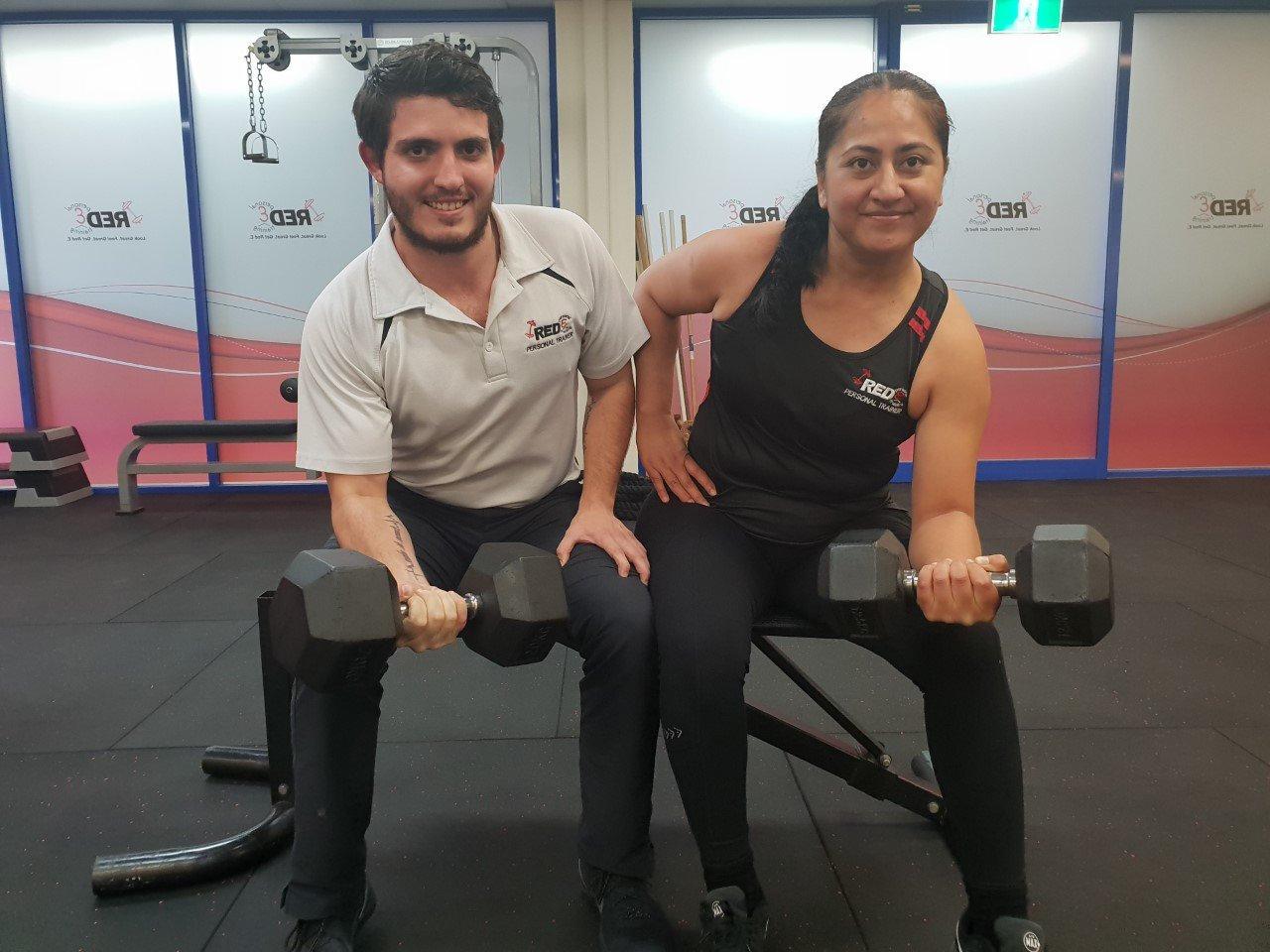Red E Personal Training personal trainers Damien Everett and Vama Fatiaki.