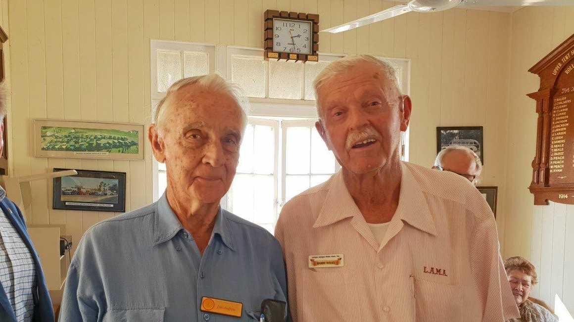 LIFE MEMBERS: Jim Andrew and Barry Wilks were both granted life membership of LAMA.