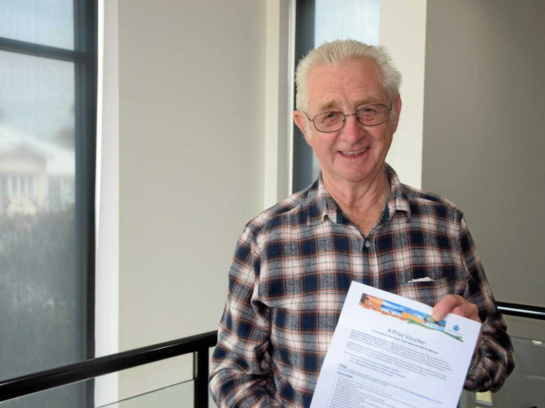 LUCKY: Lightning has struck twice for Gladstone man Ray Corry, who recently won a three-night holiday to Fraser Island's Kingfisher Bay Resort. Ray has also won The Observer's $1000 fuel card competition in April 2018.