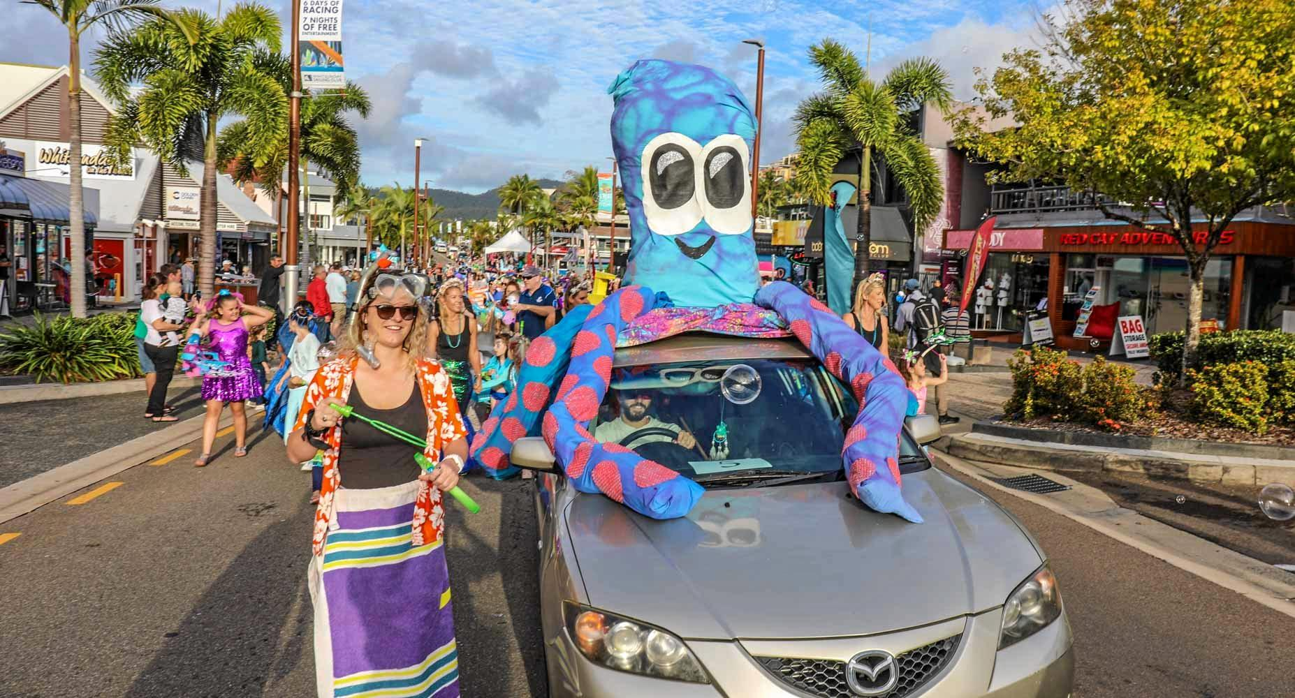 The theme of the 2019 Rotary Street Parade was 'the living reef - a world down under'