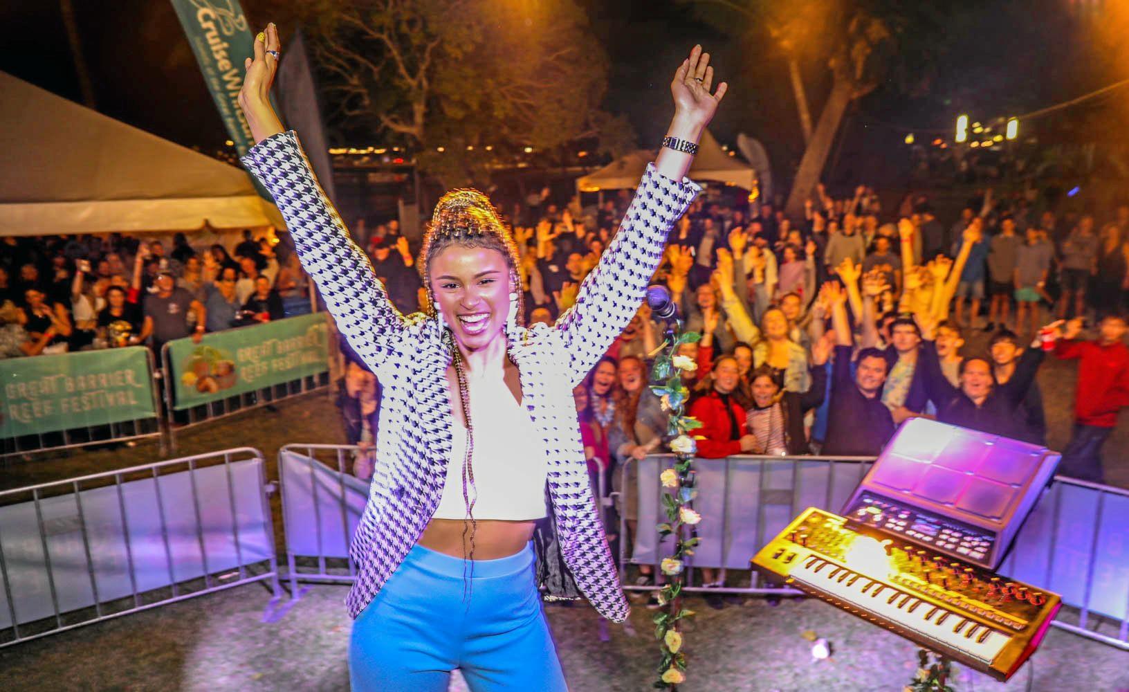 Thandi Phoenix enjoyed her Friday night.