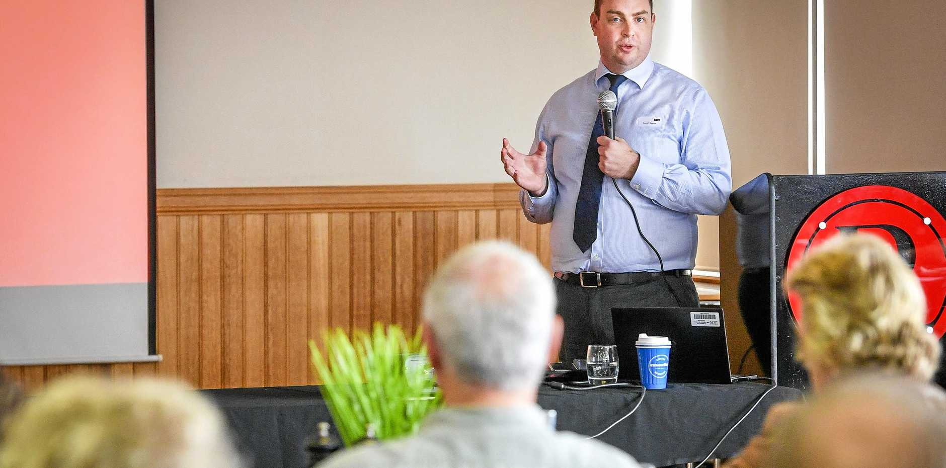 ON THE GROUND: NAB senior economist Gareth Spence in  Gladstone yesterday for an economic forum with   the Gladstone  business community.