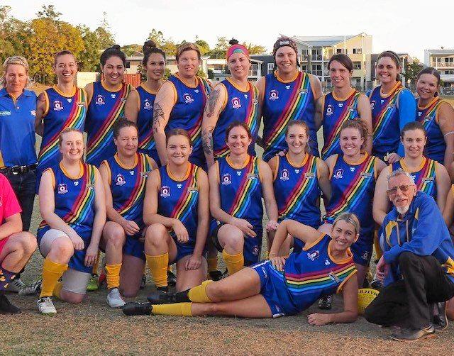 The Ipswich Eagles women's Aussie rules team hoping to secure a grand final spot this season.