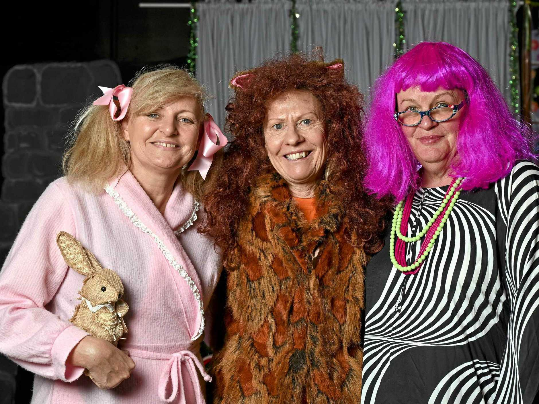 Ipswich Little Theatre Daytime Troupe have an upcoming show called Ruby's Bush Christmas. Annette Kitching (Ruby), Margaret Martin (Sheryl) and Ann Maree Ling  (Nanna Mac).