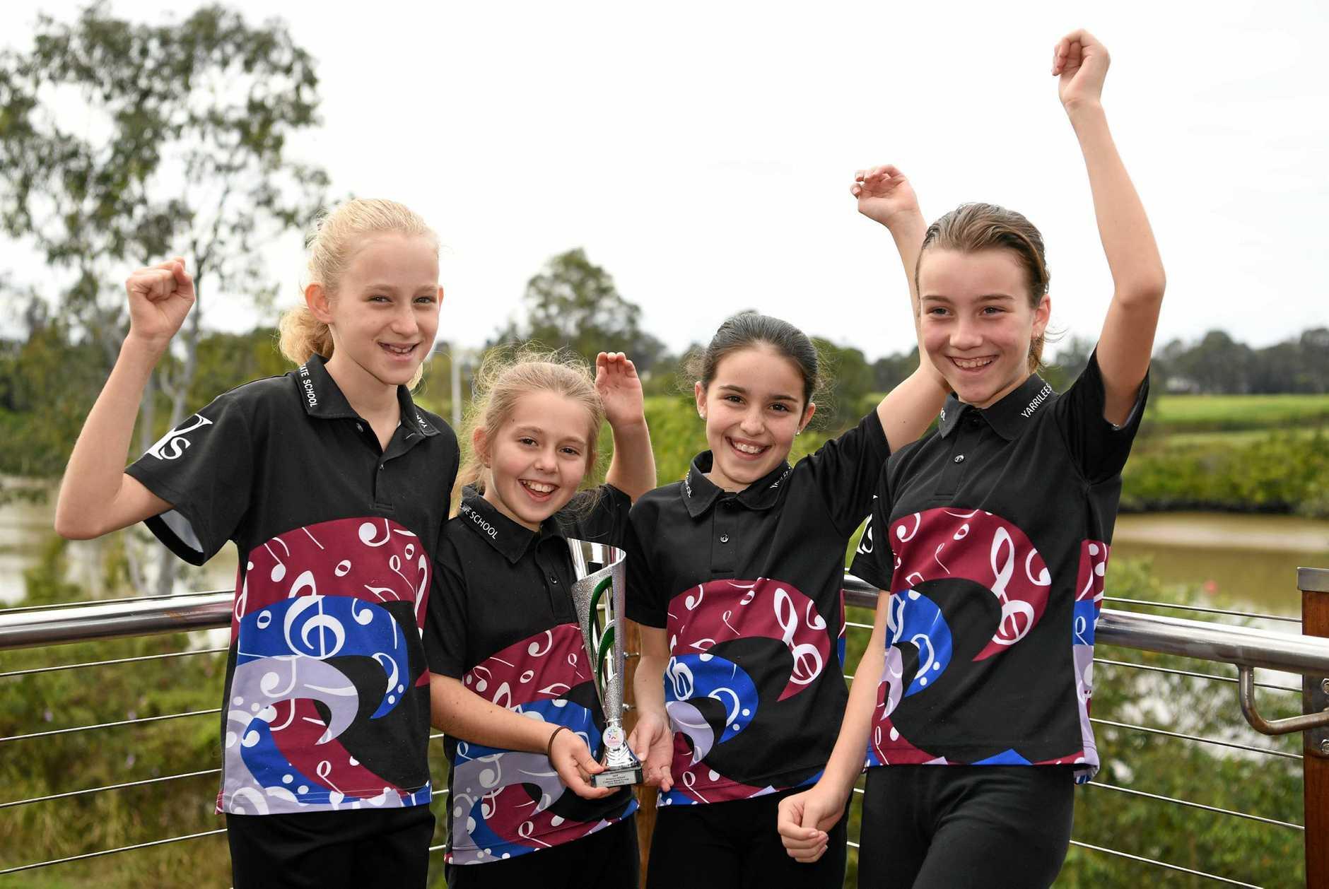 Maryborough Eisteddfod - (L) Serafina Andersen, Eva Templeton, Cienna Cathcart and Kaitlyn Turner from Yarrilee State School.
