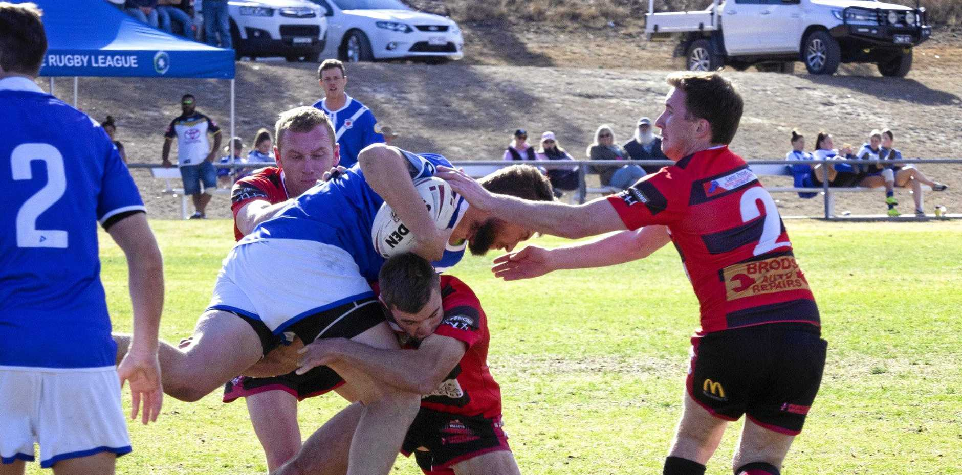 NO MATCH: The Gremlins dominated a depleted Valleys Roosters side on Saturday in front of a big home crowd.