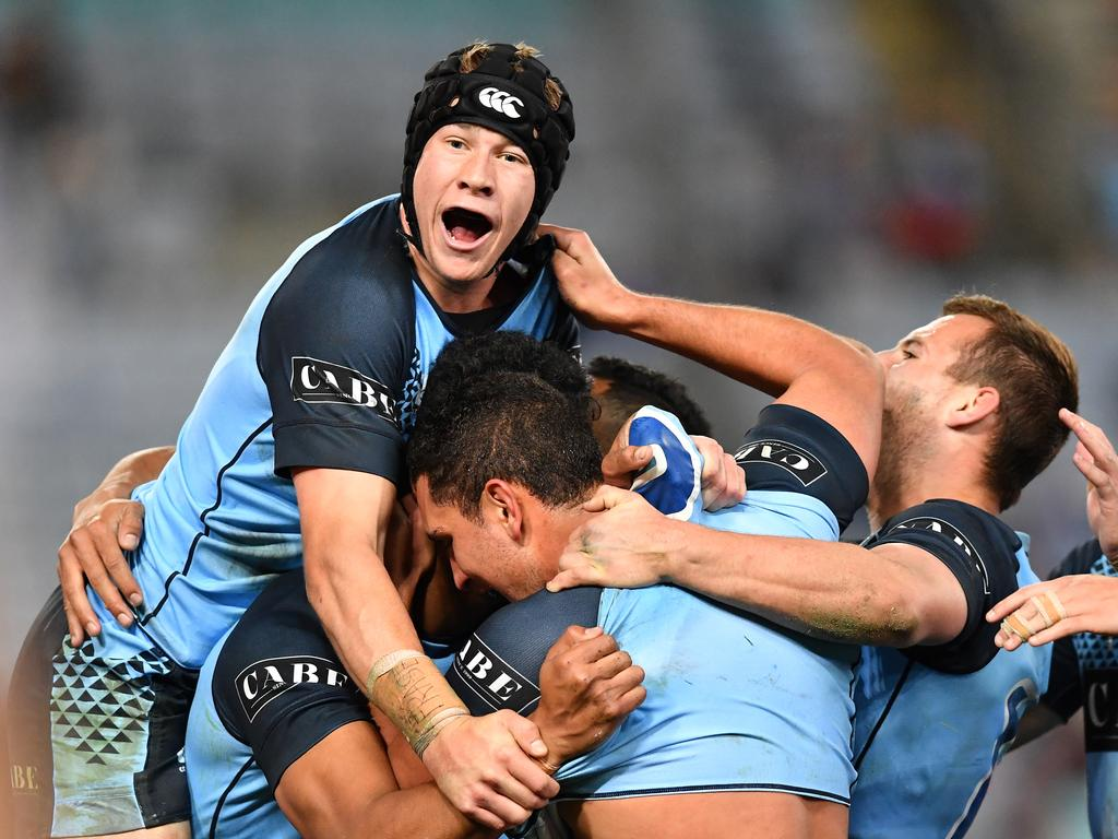 Matt Burton (headgear) was superb for the NSW Under-20 Origin team in their big win over Queensland. Picture: Robb Cox © NRL Photos