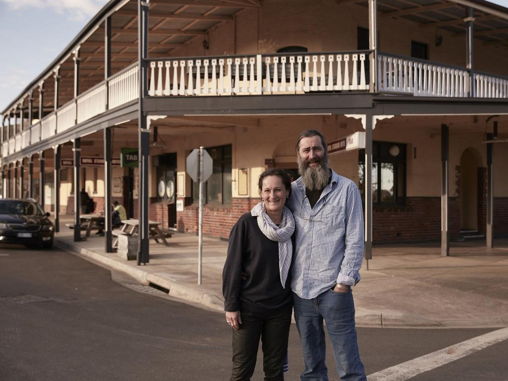 Publicans Amy and Steve Robson, who own the Royal Standard Hotel in the Victorian town of Toora, are thrilled with their grant. Picture: Supplied