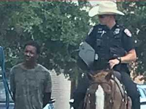 Outrage as cops lead black man by rope