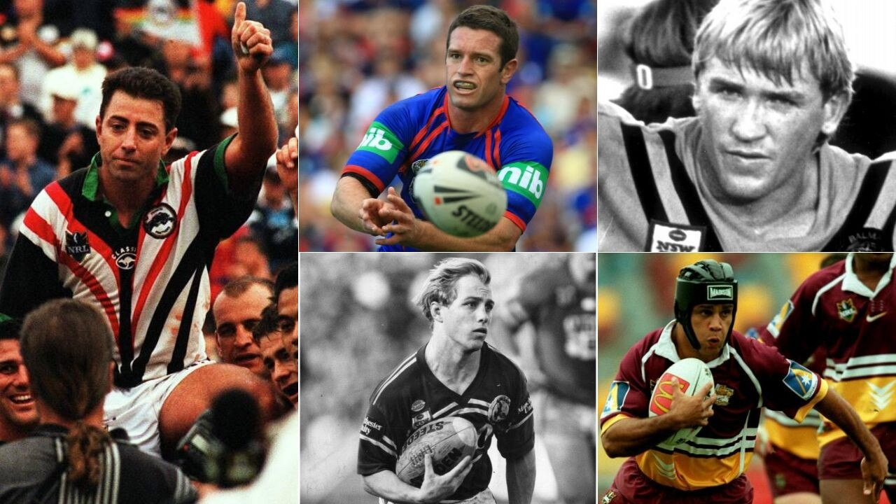 Clockwise from left: Greg Alexander, Danny Buderus, Garry Jack, Steve Renouf and Geoff Toovey are just some of the superstars nominated.