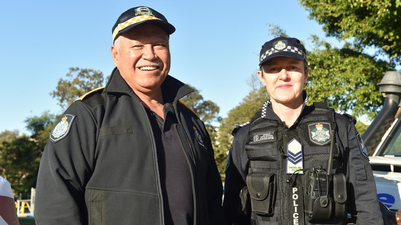 Moreton District Crime Prevention Unit officers Raro Tevita and Sarah Grayson