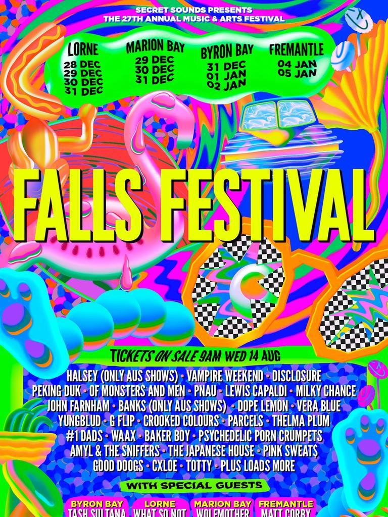 Falls Festival 2019/20 line-up.