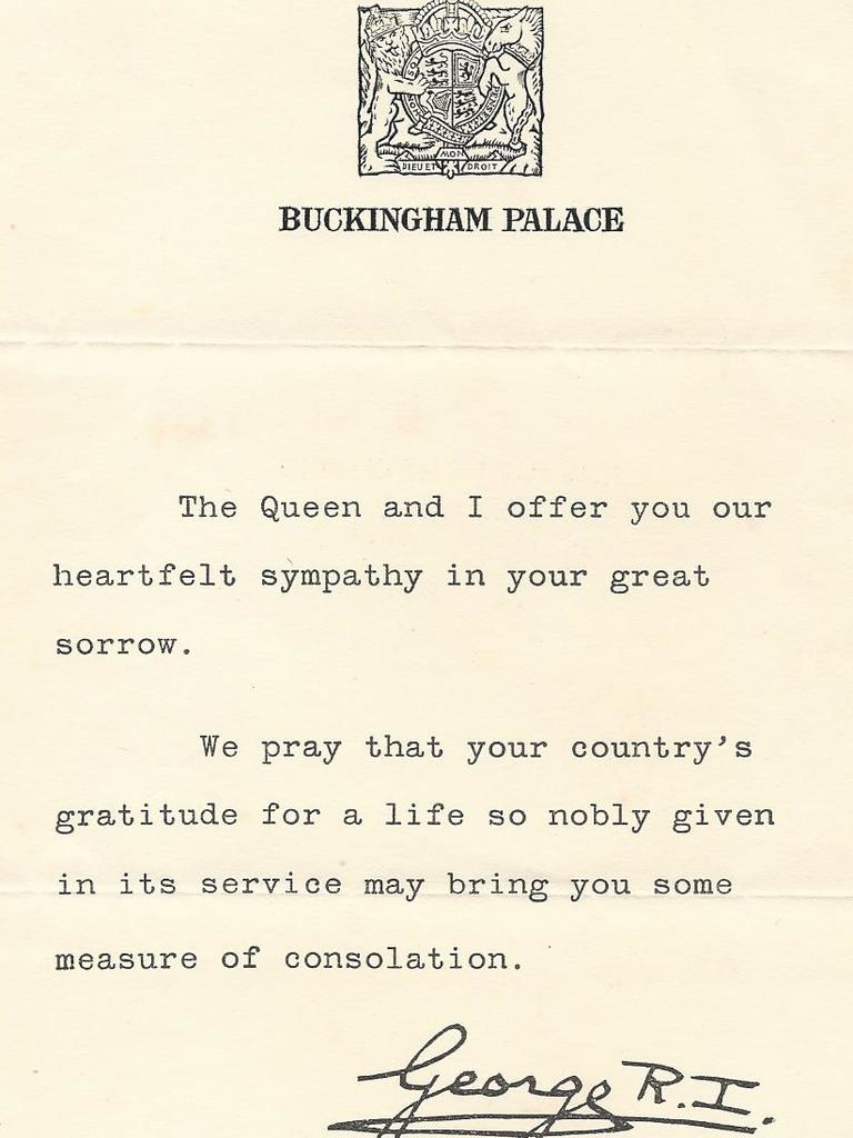 A letter from King George VI.
