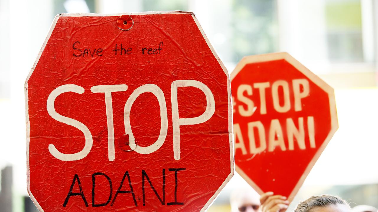 Adani says two protesters have locked-on to equipment on the Carmichael mine site. Picture: Hollie Adams/The Australian
