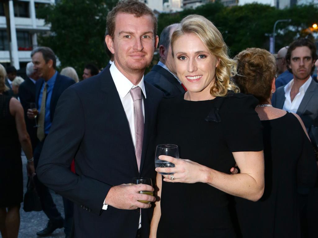 Kieran and Sally Pearson. Pic Darren England.