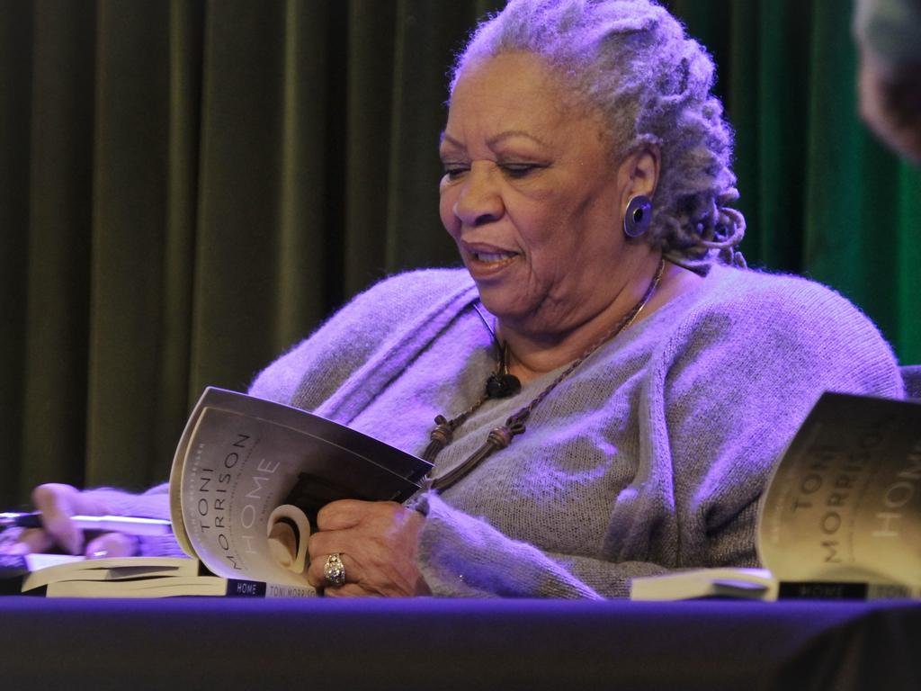 Author Toni Morrison signs copies of her book Home in 2013. Picture: AP