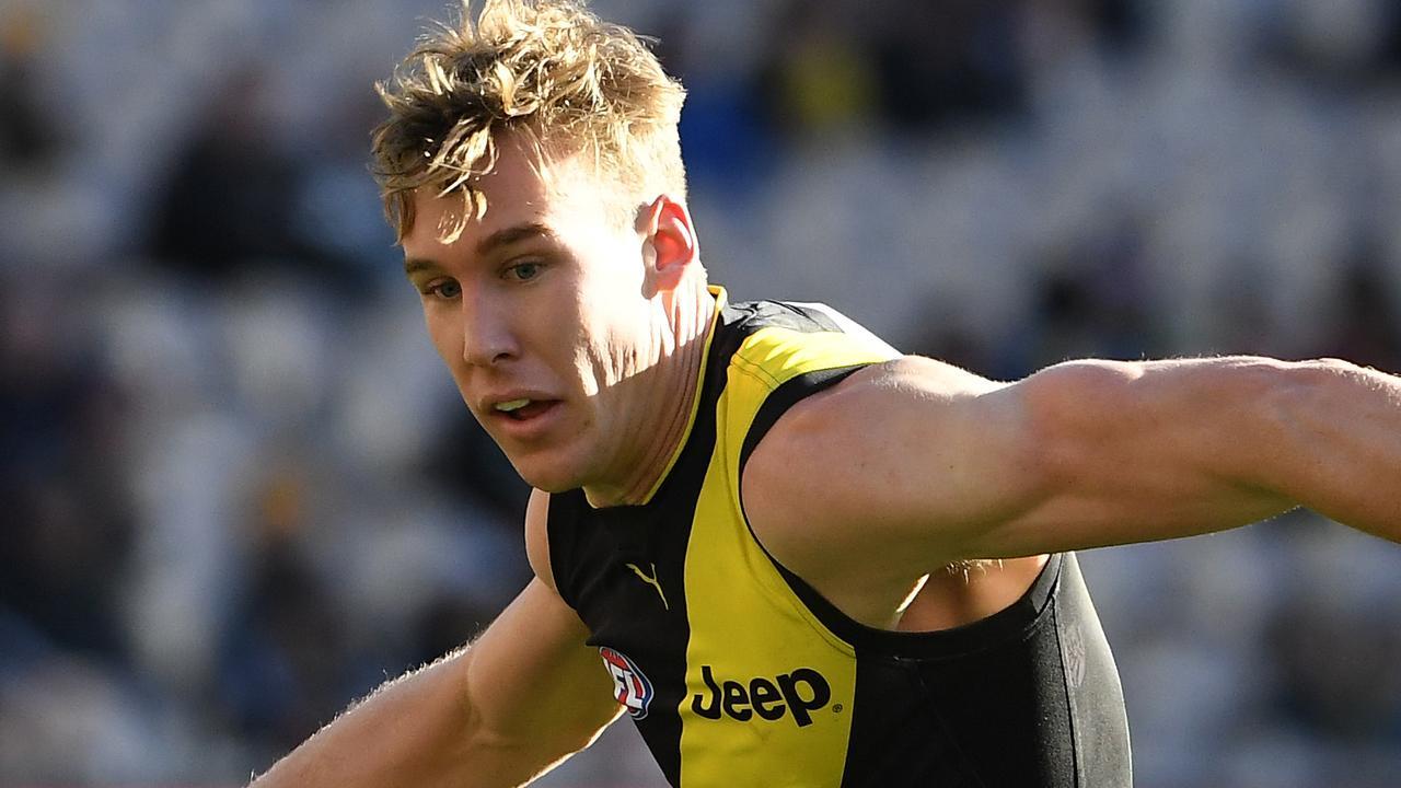 Tom Lynch leads Dermott Brereton's All-Australian forward line. Picture: AAP