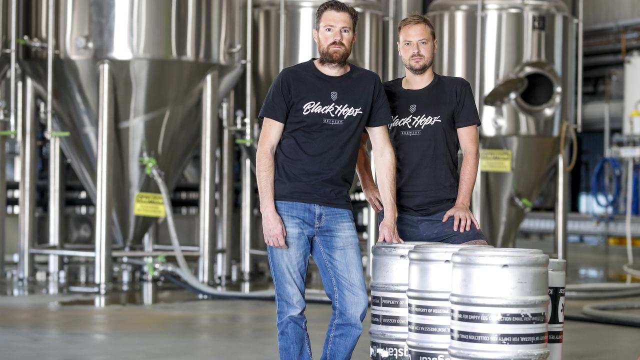 Black Hops Brewery co-founders Dan Norris and Eddie Oldfield aren't happy about the beer tax. Pic Tim Marsden