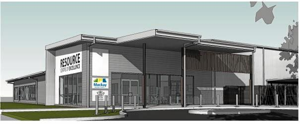An artist's impression of the Mackay Regional Council's Resource Centre of Excellence.