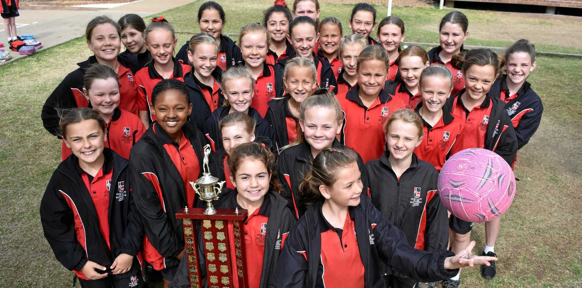 SHOOTING STARS: All 29 girls who participated in the Catholic Schools Week netball competition walked away with a lot more than a few wins and some points scored.