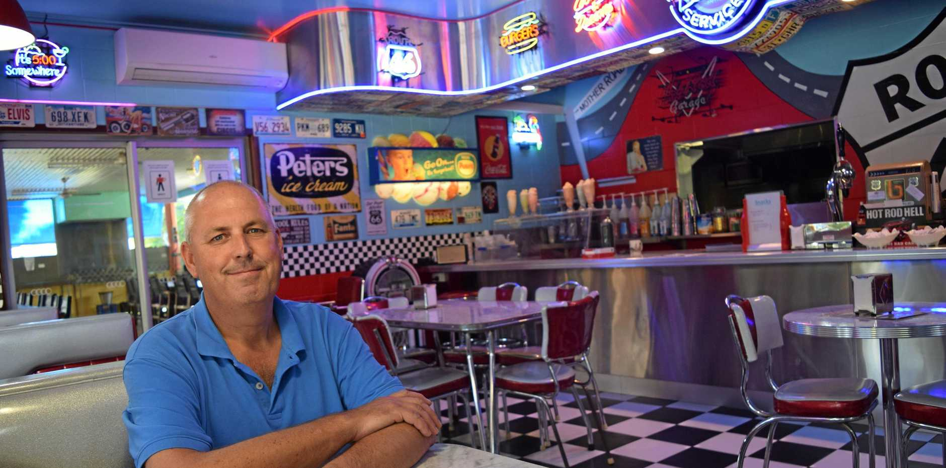 DINE IN: Peter Miller is the new owner of George's Diner and Conway Tourist Park .