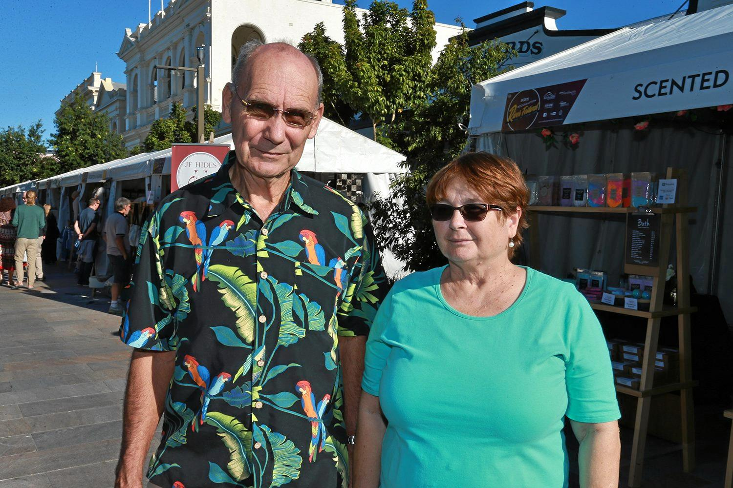 VALE: Austin Grillmeier and Jenny Grillmeier at the River Festival last year. Mr Grillmeier died from flu on Monday.