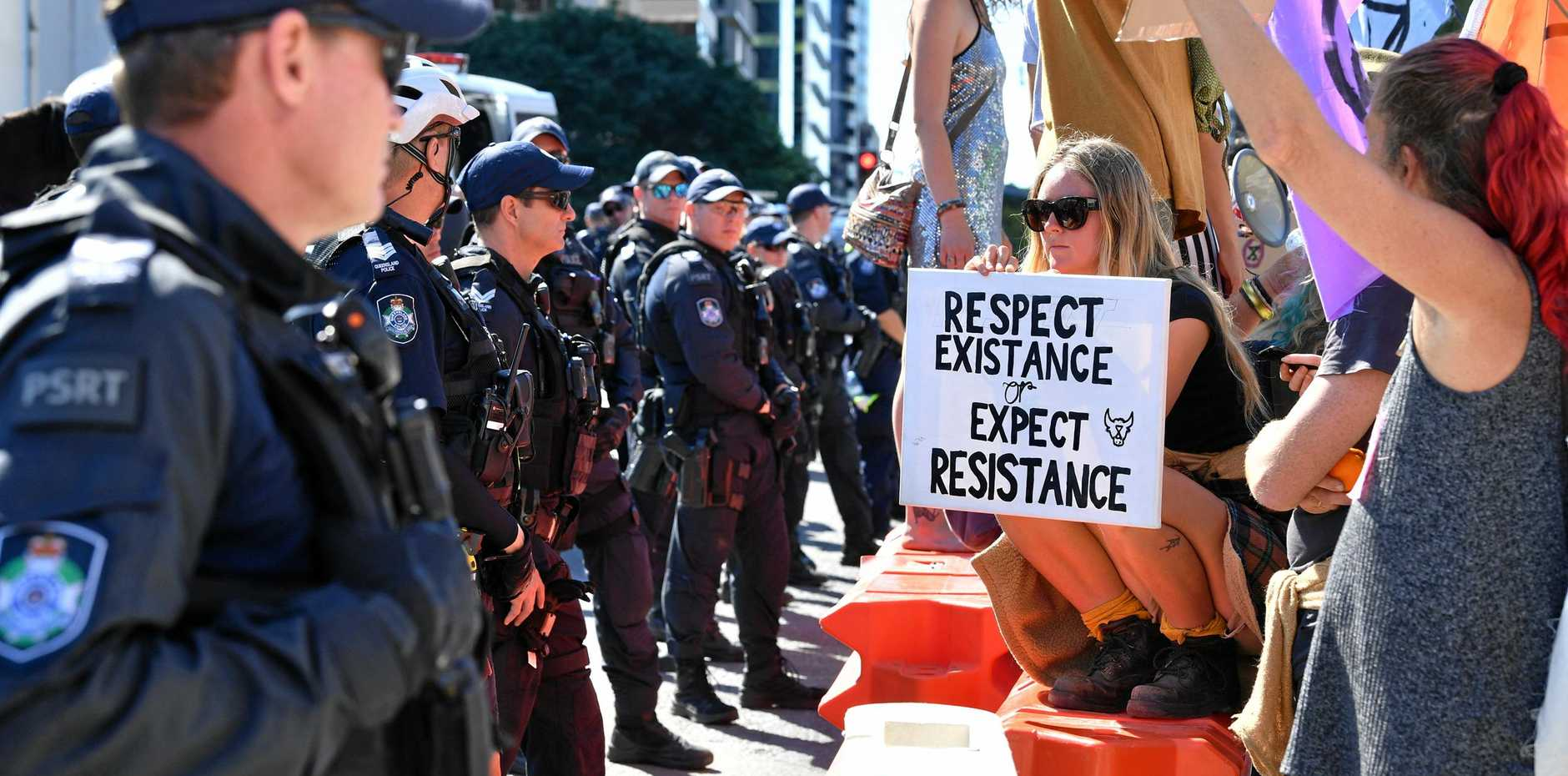 BLOCKED: Extinction Rebellion protesters shut down Brisbane's CBD