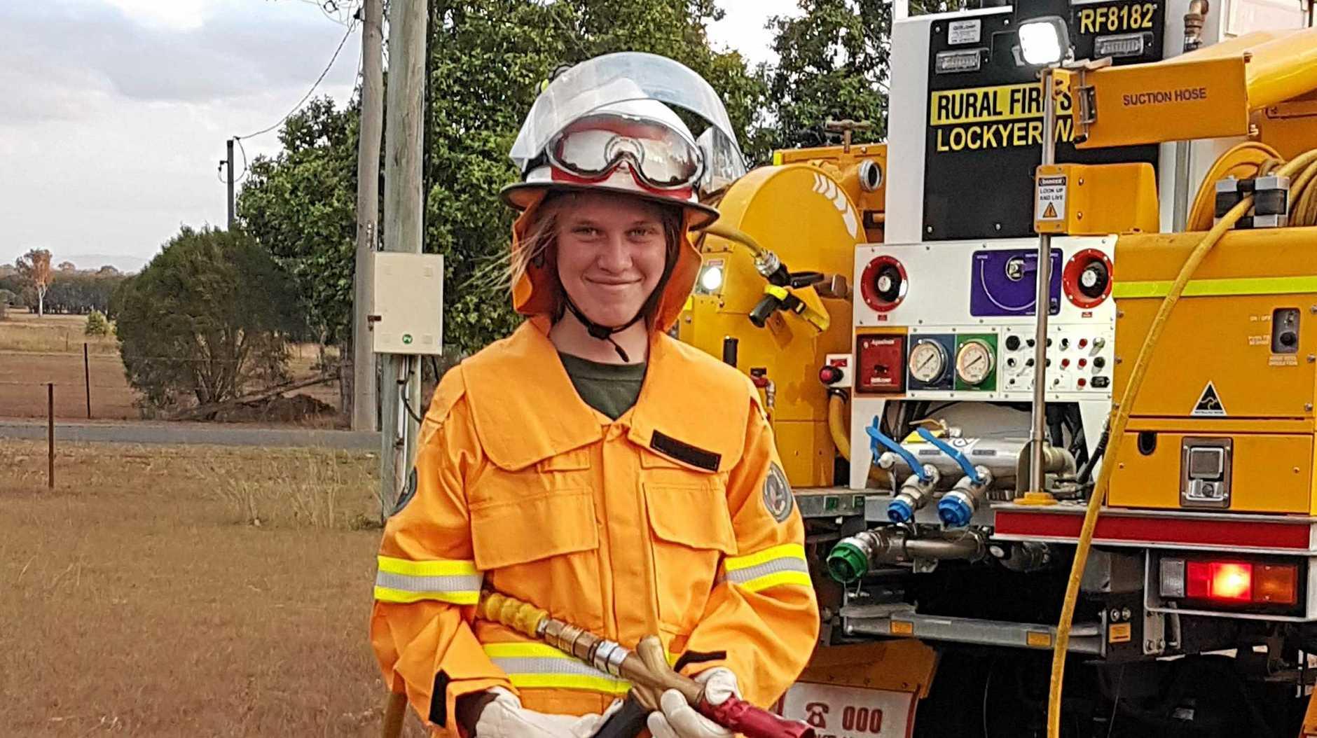 TRAILBLAZER: Michelle Prince at her first hazard reduction burn.
