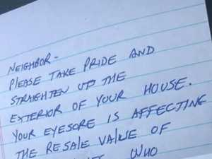 Mum stunned by neighbour's cruel note