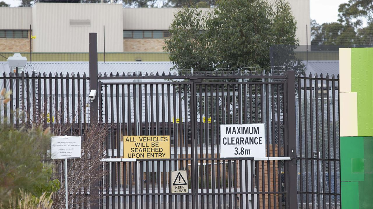 Four men have been arrested and charged after NSW Police swooped on the Villawood immigration detention centre early on Friday morning.