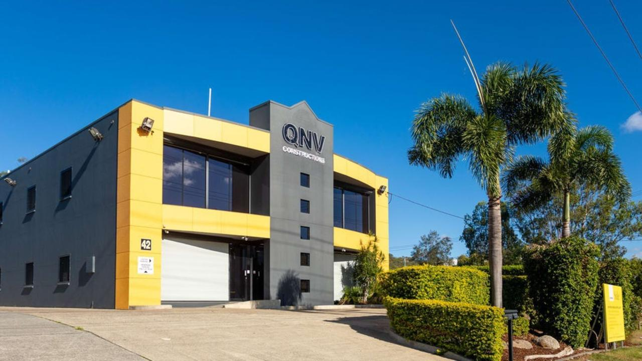 The former headquarters of troubled building company QNV Constructions at 42 Siganto Dr, Helensvale, is on the market. Photo: Supplied