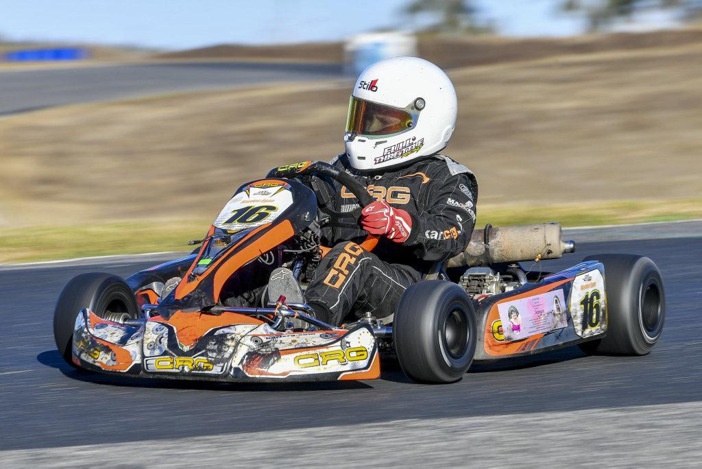 Hayden Egan during Friday's practice for the Central Queensland