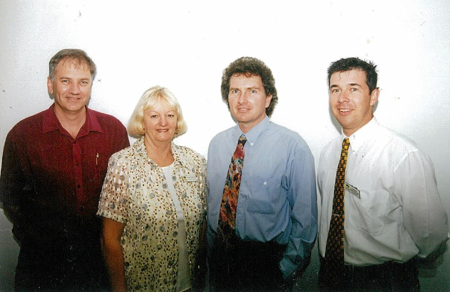 Councillors Victor Atwood, Heather Morrow, David Morrison and Andrew Antoniolli when elected in the year 2000. Photo: Contributed