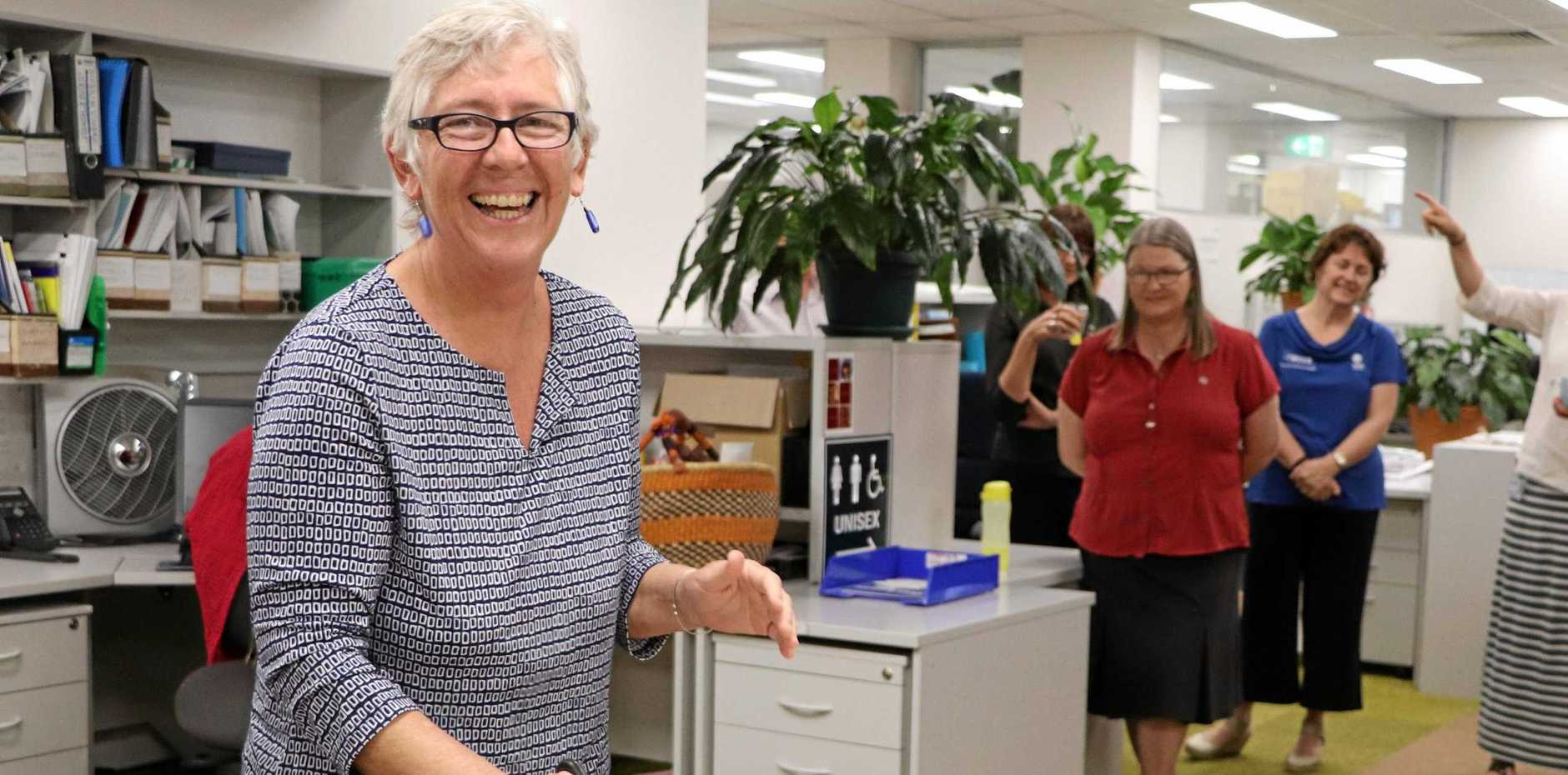MOVING ON: Karen Collins at her Tweed Shire Council farewell.