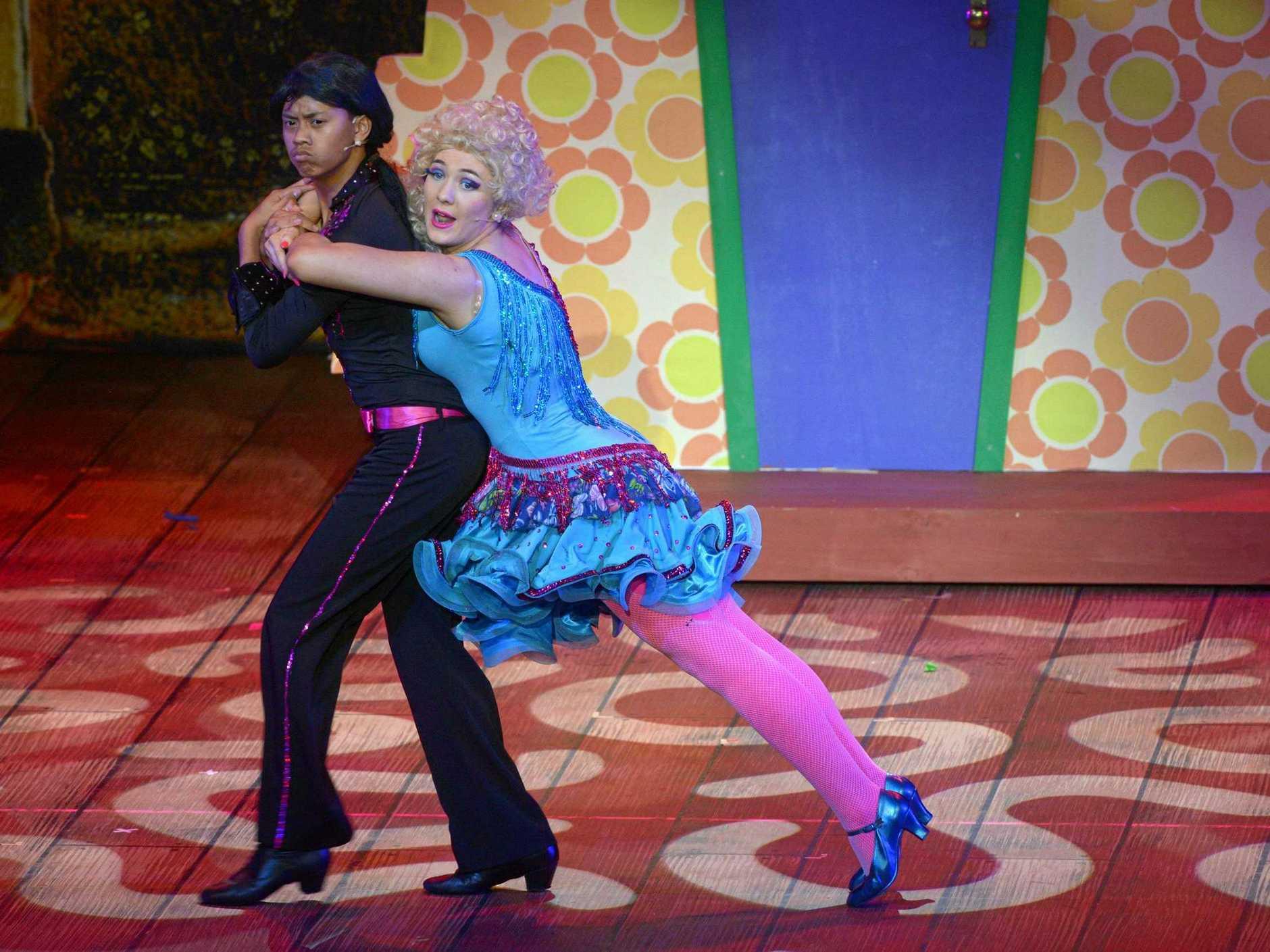 Rudolpho (Benedict Wright) and Zinnia Wormwood (Roxanne McDonald) dance up a storm in Matilda