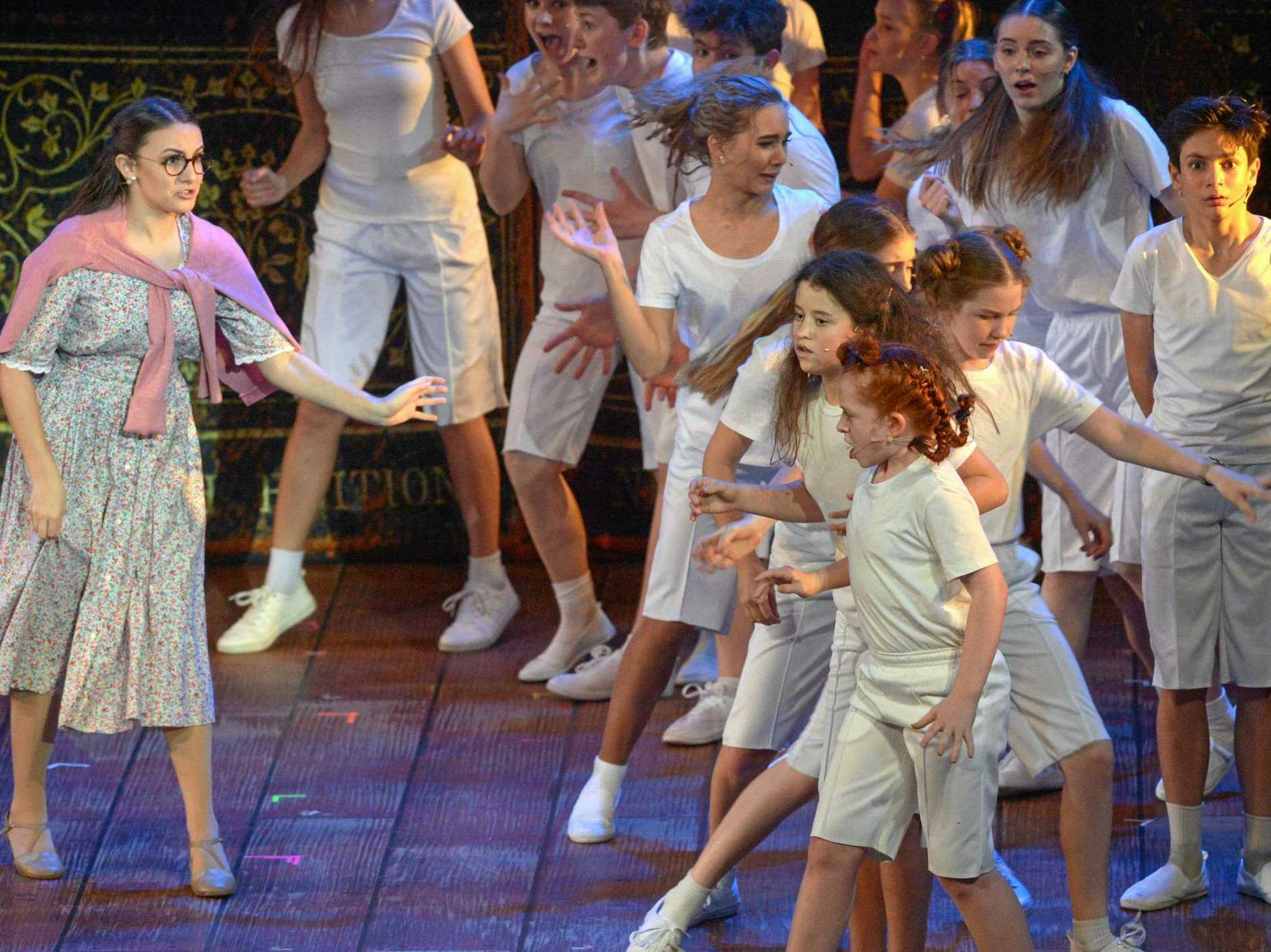 The lovely Miss Honey (Ella Kibblewhite-Claus) stands up for the school kids in Matilda