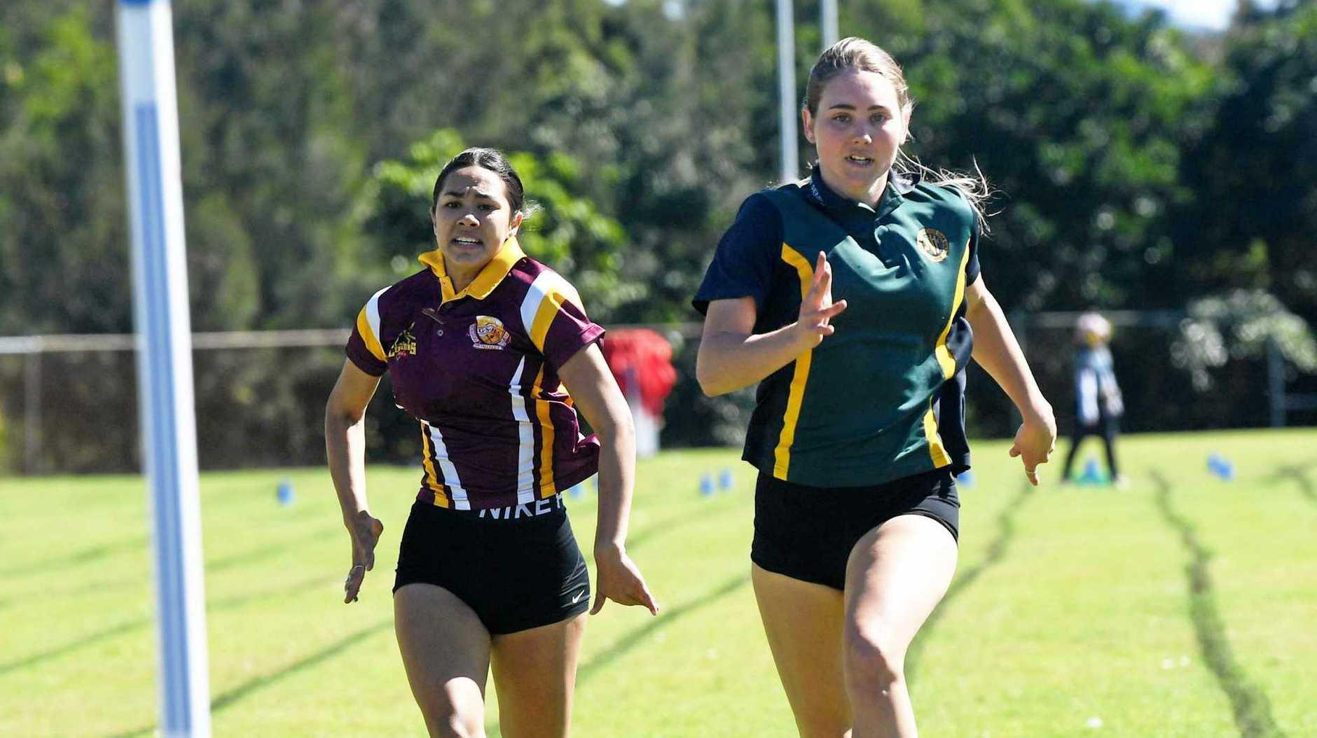 Gympie All Schools Athletics Carnival at Albert Park - Tannar Jenkins andAmelia Terare