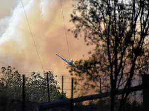 Fire crews work through night battling blaze